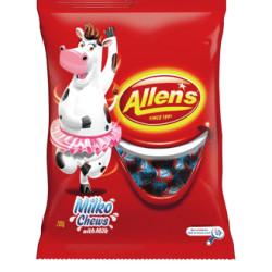 Allens Milko Chews is a delicious milk flavoured wrapped lolly