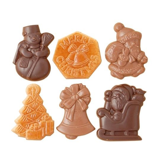 Buy Belgian Chocolate Christmas Ornaments at Moo-Lolly-Bar in Australia