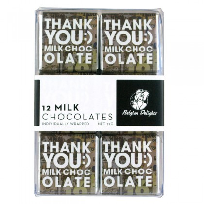 Napolitain Boxes Thank You Milk Chocolate 12pc