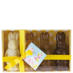 You can now buy Four Little Easter Bunnies as an Easter gift online at Moo-Lolly-Bar Australia