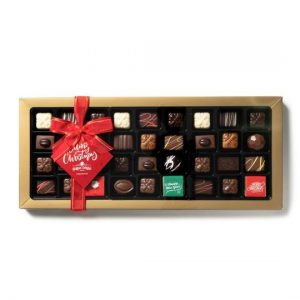 Buy Belgian Chocolate Christmas Assortment Box 45pc online at Moo-Lolly-Bar